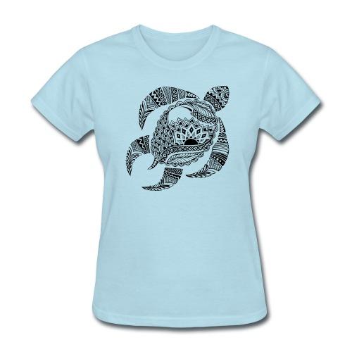 Tribal Turtle Women's T-Shirt from South Seas Tees - Women's T-Shirt