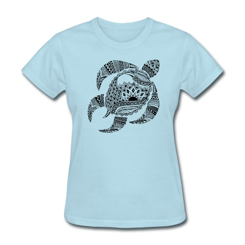 Tribal Turtle Women's T-Shirt from South Seas Tees - Women's T-Shirt