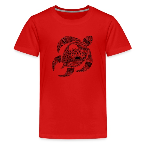 Tribal Turtle Kids T-Shirt from South Seas Tees - Kids' Premium T-Shirt