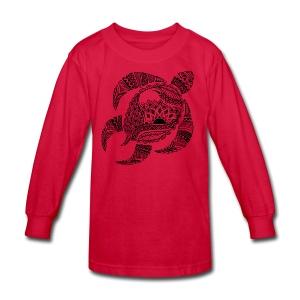 Tribal Turtle Kids Long Sleeve Shirt from South Seas Tees - Kids' Long Sleeve T-Shirt