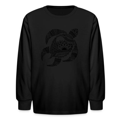 Tribal Turtle Kids Long Sleeve Shirt from South Seas Tees - Kids' Long Sleeve T-Shirt