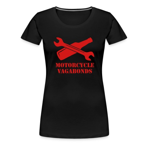 t-shirt - female - motorcycle vagabonds - red print - Women's Premium T-Shirt