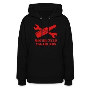 hoodie - motorcycle vagabonds - red print - Women's Hoodie