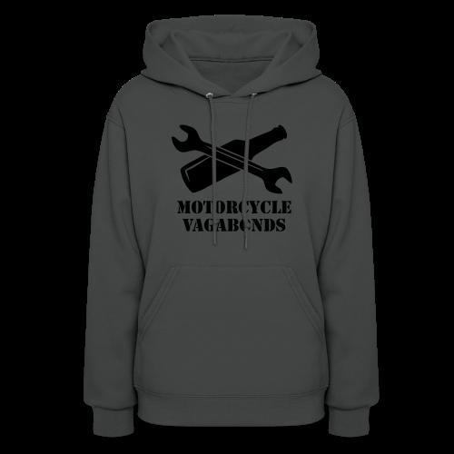 hoodie - motorcycle vagabonds - black print - Women's Hoodie