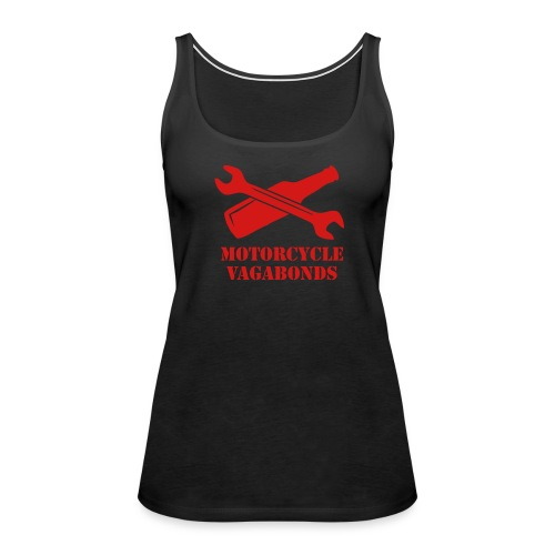 tank top - female - motorcycle vagabonds - red print - Women's Premium Tank Top