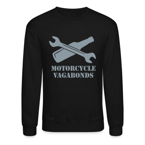 sweatshirt - motorcycle vagabonds - grey print - Crewneck Sweatshirt