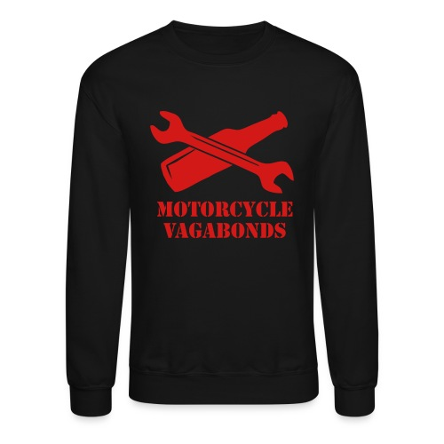 sweatshirt - motorcycle vagabonds - red print - Crewneck Sweatshirt