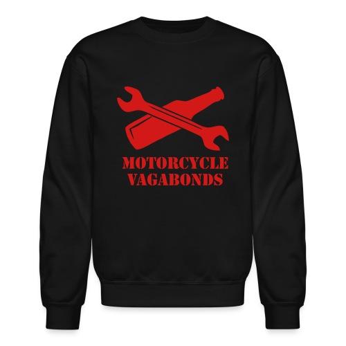 sweatshirt - motorcycle vagabonds - red print - Crewneck Sweatshirt