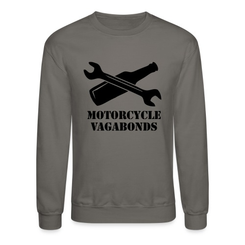 sweatshirt - motorcycle vagabonds - black print - Crewneck Sweatshirt