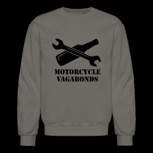 sweatshirt - motorcycle vagabonds - black print - Crewneck Sweatshirt