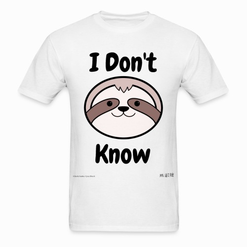 I Don't Know Sloth - Men's T-Shirt