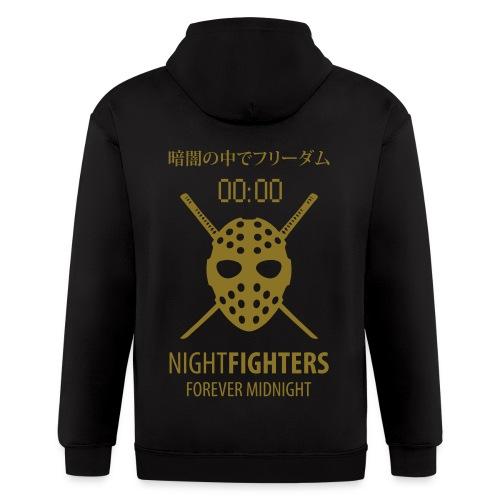 NightFighters Hoodie - Men's Zip Hoodie