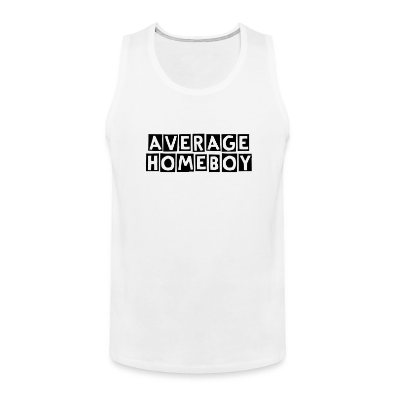 Average Homeboy Tank Top - White - Men's Premium Tank