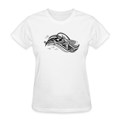 South Seas Tribal Shark Women's T-Shirt - Women's T-Shirt