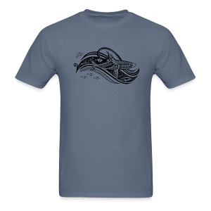 South Seas Tribal Shark Men's T-Shirt - Men's T-Shirt