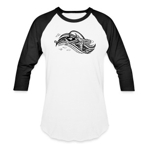 South Seas Tribal Shark Baseball T-Shirt - Baseball T-Shirt