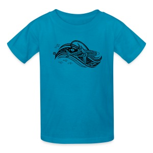 South Seas Tribal Shark Kids T-Shirt - Kids' T-Shirt
