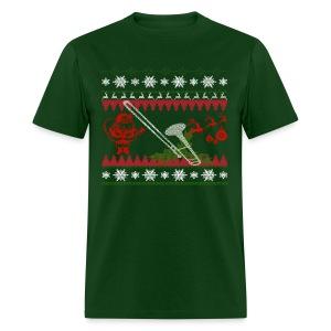 Ugly Trombone Christmas - Men's T-Shirt