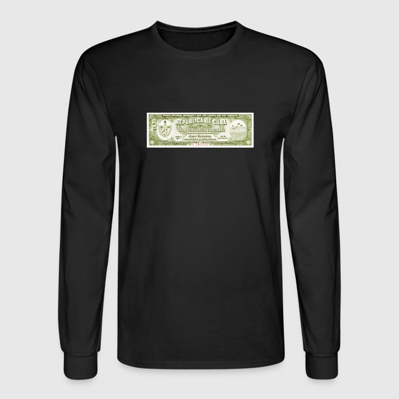 Cuban Cigar Afficianado Vintage Warranty - Men's Long Sleeve T-Shirt