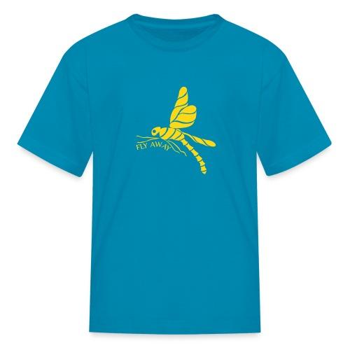 Fly Away Dragonfly Kids T-Shirt - Kids' T-Shirt