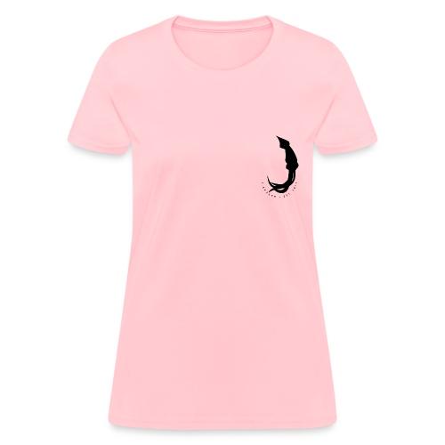 Women's J-Kraken X Ninja Fam Logo Tee [BLACK LOGO FRONT/BACK] - Women's T-Shirt