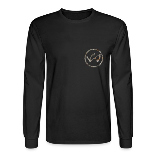 Wood Camo LachieSmish Logo Crewneck Tee - Men's Long Sleeve T-Shirt