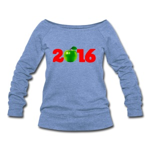 Sure as God Made Green Apples 2016 - Women's Wideneck Sweatshirt