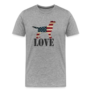 Patriotic Love (feeds 12 shelter dogs) - Men's Premium T-Shirt