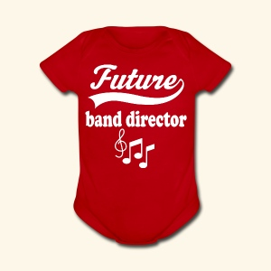 Future Band Director Kids Music T-shirt - Short Sleeve Baby Bodysuit