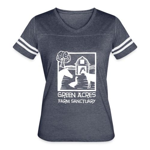Women's Style Vintage Tee - White Logo - Women's Vintage Sport T-Shirt