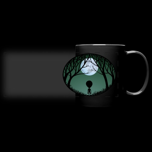 Alien Art Mugs Cute E.T. Coffee Cups  - Full Color Panoramic Mug