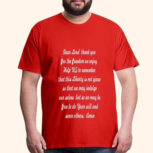 prayer for freedom - Men's Premium T-Shirt