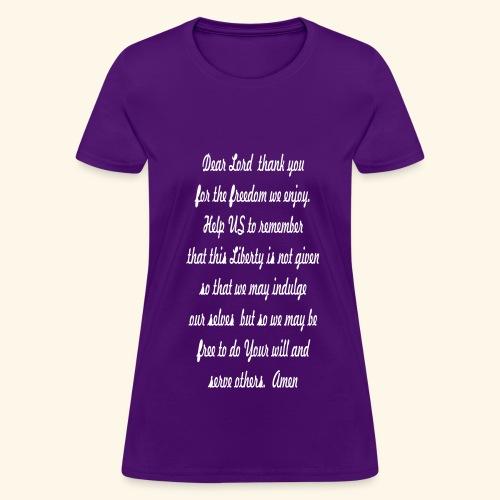 prayer for freedom - Women's T-Shirt
