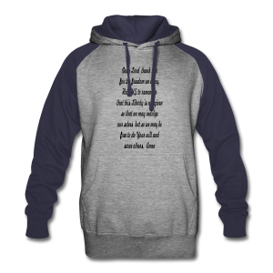 prayer for freedom - Colorblock Hoodie