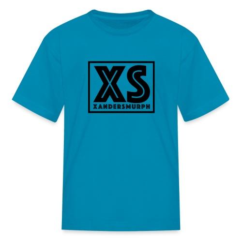 Xandersmurph Shirt - Blue shirt w Black Logo - Kids' T-Shirt