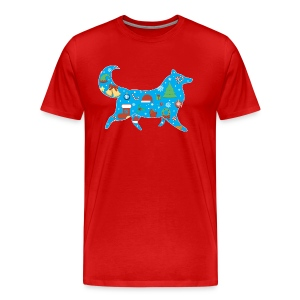 Christmas Collie - Mens Big & Tall T-shirt - Men's Premium T-Shirt