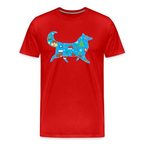 Christmas Collie - Mens Big & Tall T-shirt - Men's Premium T-Shirt