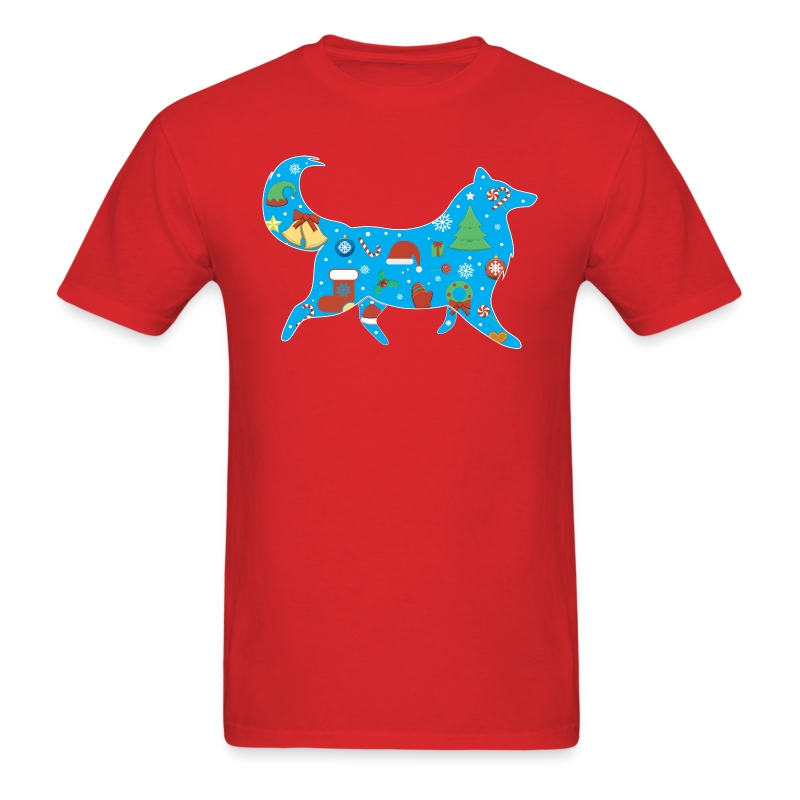Christmas Collie - Mens T-shirt - Men's T-Shirt