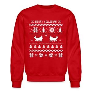Merry Colliemas - Mens Long Sleeve - Crewneck Sweatshirt