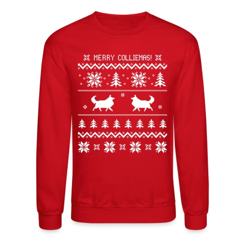 Merry Colliemas - Mens Long Sleeve - Crewneck Sweatshirt