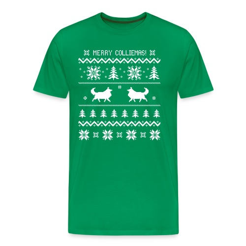 Merry Colliemas - Mens Big & Tall T-shirt - Men's Premium T-Shirt