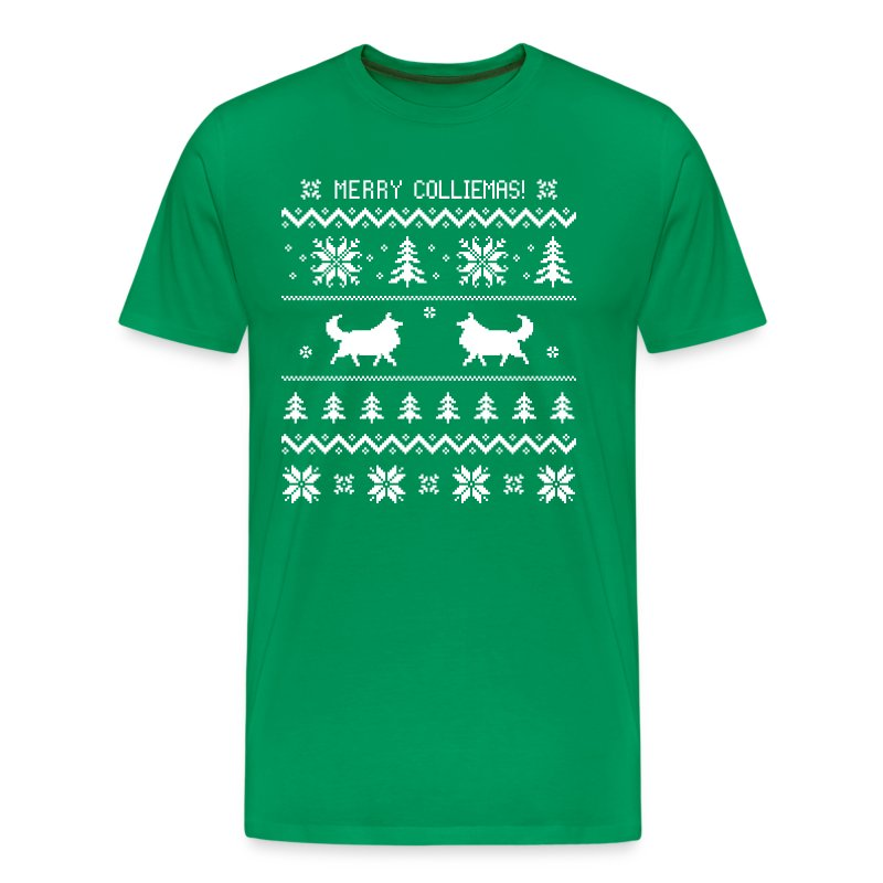 Merry colliemas mens big tall t shirt t shirt holly for Design your own t shirt big and tall