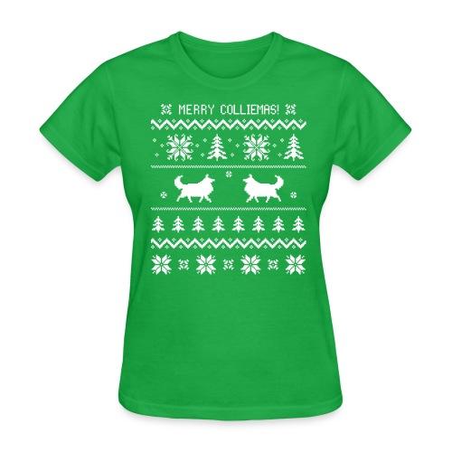 Merry Colliemas - Womens T-shirt - Women's T-Shirt