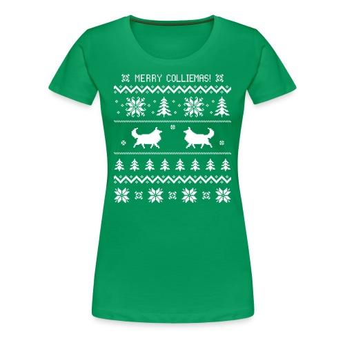 Merry Colliemas - Womens Plus Size T-shirt - Women's Premium T-Shirt