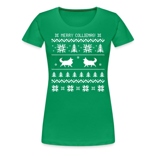 Merry Colliemas - Womens Plus Size T-shirt - Women's Premium T-Shirt