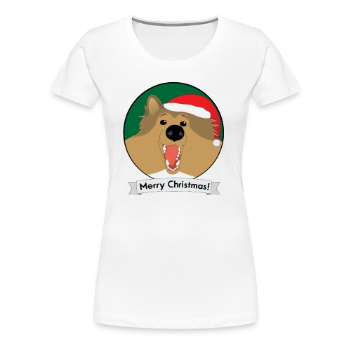 Holly the Collie Christmas - Womens Plus Size T-shirt - Women's Premium T-Shirt