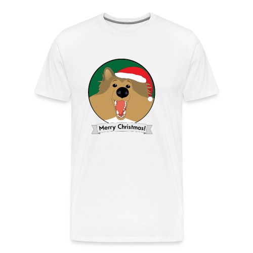 Holly the Collie Christmas - Mens Big & Tall T-shirt - Men's Premium T-Shirt