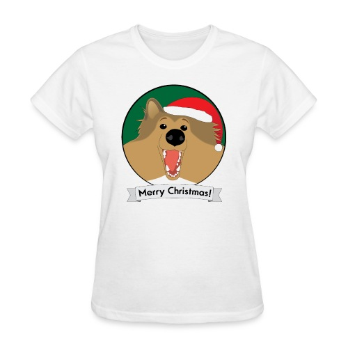 Holly the Collie Christmas - Womens T-shirt - Women's T-Shirt