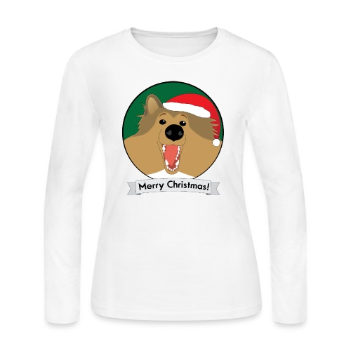 Holly the Collie Christmas - Womens Long Sleeve - Women's Long Sleeve Jersey T-Shirt