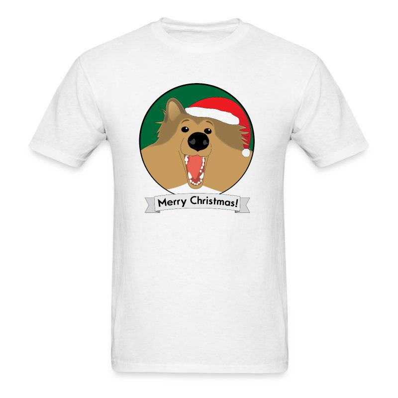 Holly the Collie Christmas - Mens T-shirt - Men's T-Shirt